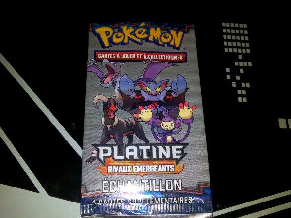 ma collection de booster pokemon Platine