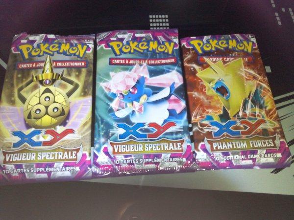 ma collection de booster pokemon XY