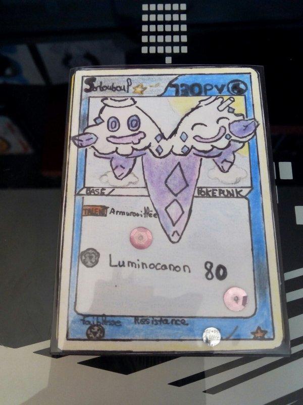 2eme carte pokémon faite main . Sorbouboul star