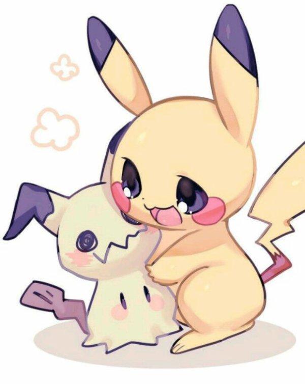 Pikachu et Mimiqui