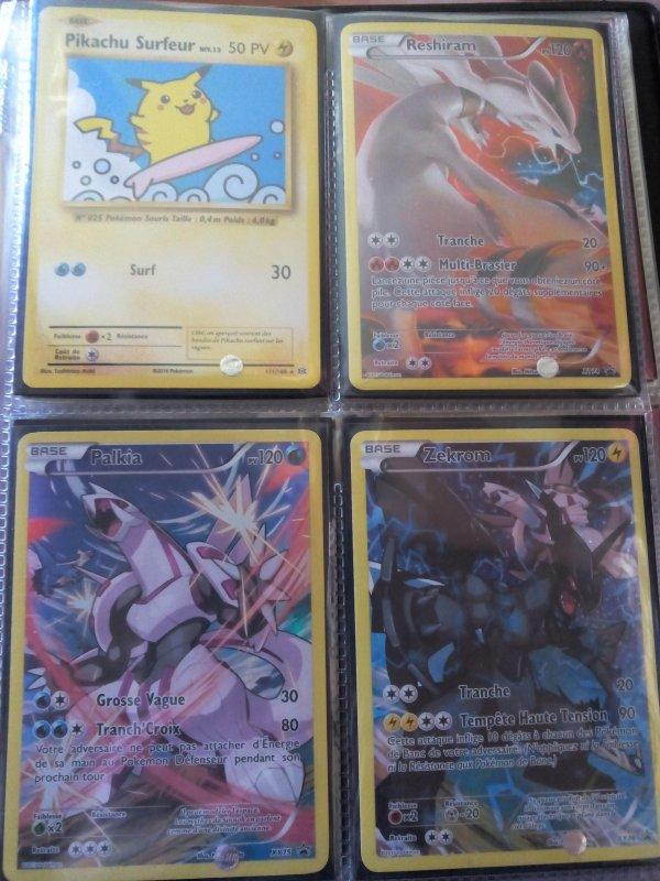 mes cartes pokemons ultra rare nouvelle présentation