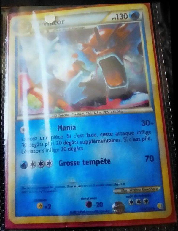 Les cartes pokemon ultra rares que j'ai tiré moi même