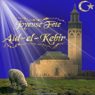 Bonne Fête de l'Aïd El Kébir.