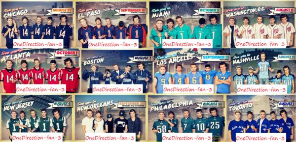 Un montage qui représente les dates de leur tournée :D