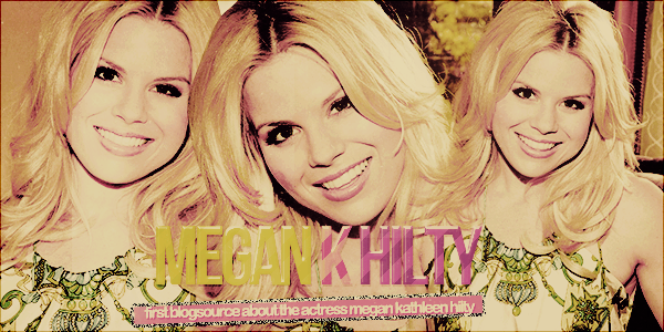 Welcome to M-K-H, your newest source about Megan Hilty. ▲