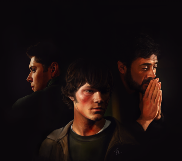 dean sam et john  fan art