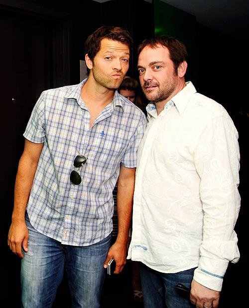 comic com 2013 mark sheppard et misha collins