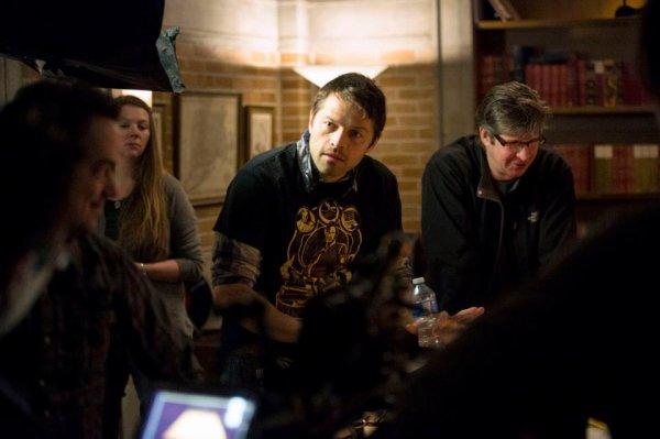 trounage de l'épisode 17x9 Misha est le directeur du tournage de SPN  partie 2