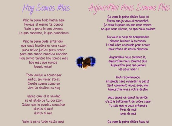 parole chanson espagnol