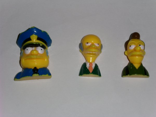 Figurines Simpson Burns, Lenny, Wiggum