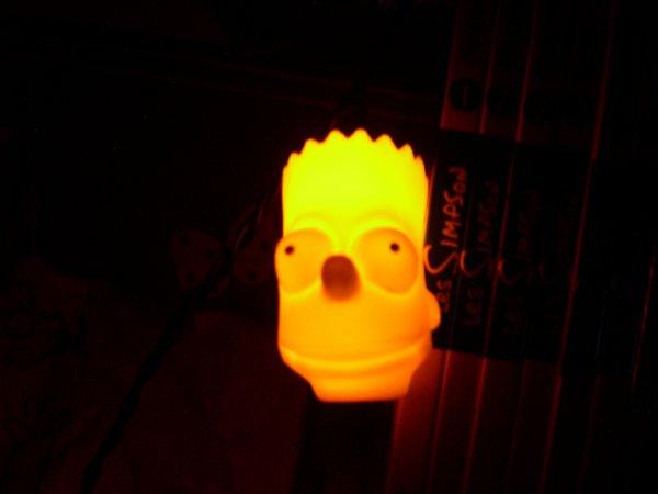 Guirlande lumineuse/électrique Bart Simpson 1998 (RARE)