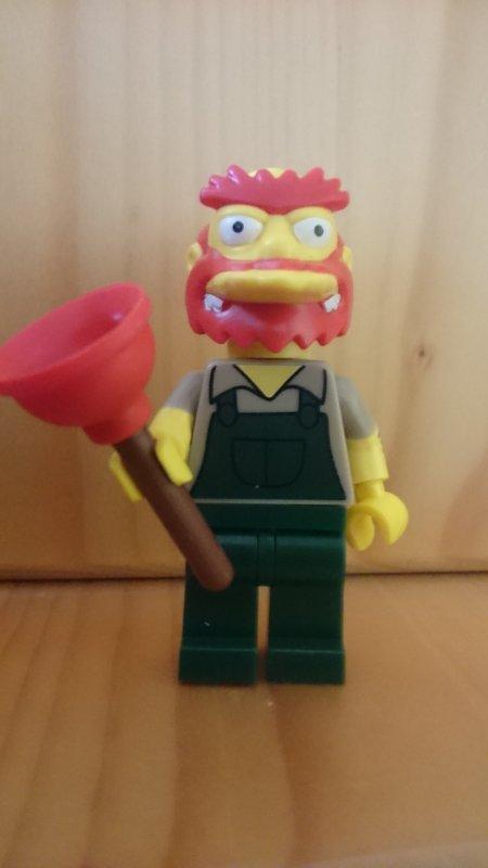Lego  Simpson série 2 Willie le jardinier