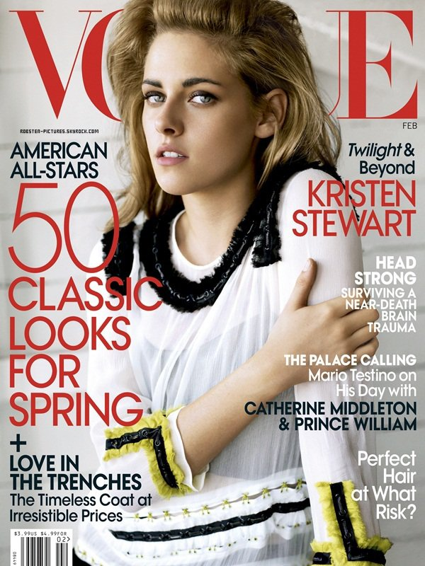 .Kristen pose pour le VOGUE US .