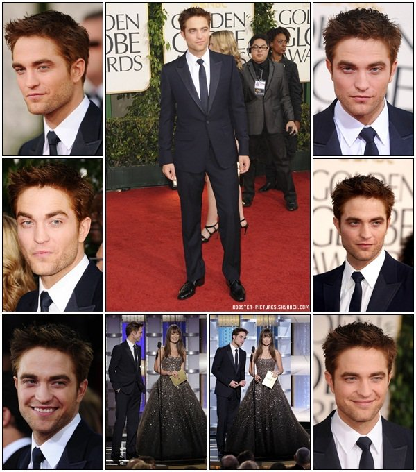 .16.01.2011 : Rob at 68th Annual Golden Globe Awards .
