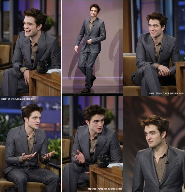 ".18.03.11 : Rob on ""The Tonight Show with Jay Leno"" for promoting Water for Elephants ."