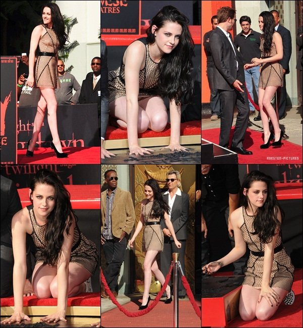 .Handprint Ceremony at Grauman's Chinese Theater - November 3 .