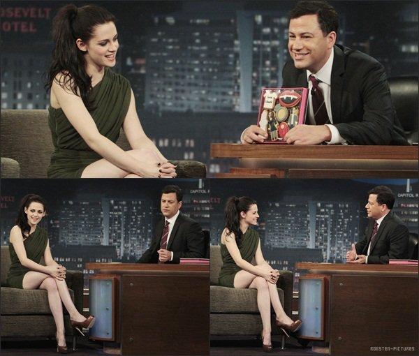 .The Breaking Dawn Cast at Ellen + Kristen at CONAN & Jimmy Kimmel Show .