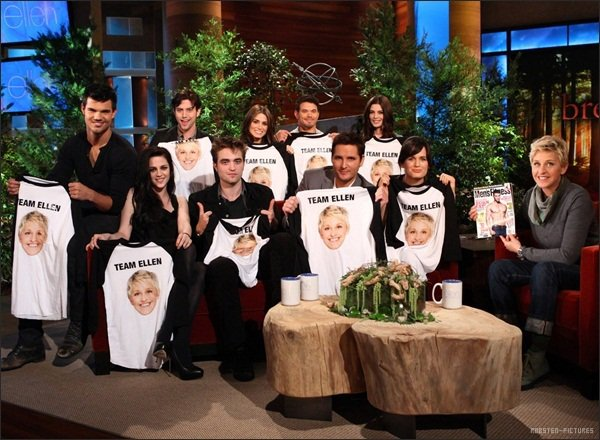 .The Breaking Dawn Cast at Ellen + Kristen at CONAN & Jimmy Kimmel Show .