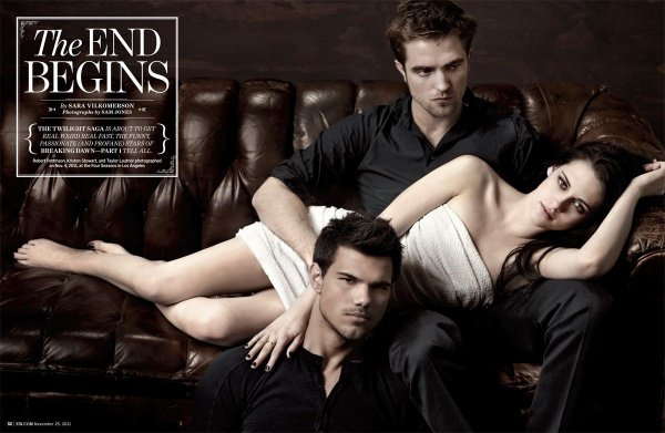 .Kristen, Rob & Taylor for Entainment Weekly .