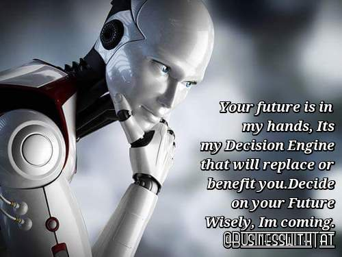 Man, Robots, AI & Technology In 1 World