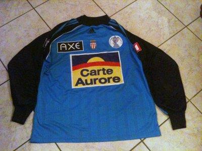 splendide maillot de l'AS MONACO porté en coupe de france par barthez dans les année 96/2000!!!!