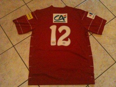maillot de brest porté par bruno grougi en coupe de france 2010/2011!!