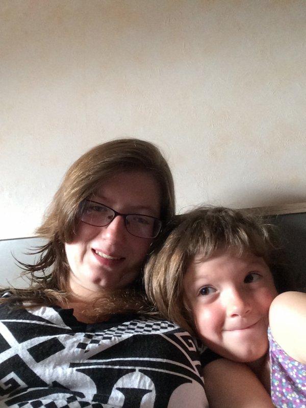 Moi et ma fille la plus belle à mes yeux
