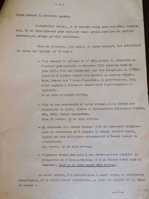 Discours du prince Saïd IBRAM lors d'un congrès des notabilités à Moroni