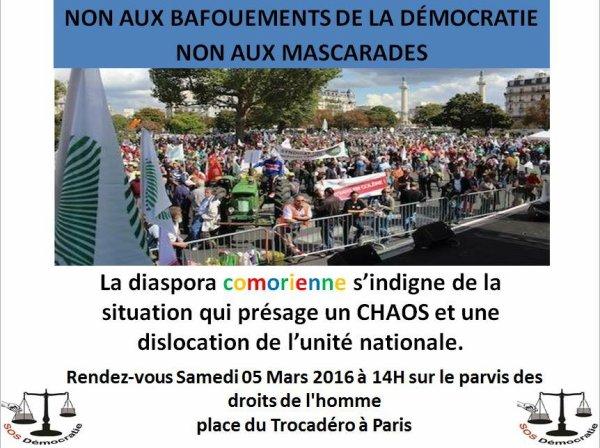 La grande manif de la diaspora: Tous ensemble le 5 mars au Trocadero