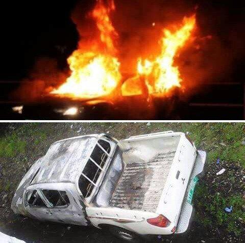 Crise électorale: Incendies des véhicules appartenant à des proches du pouvoir