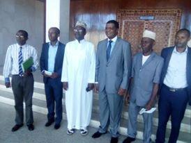 Une délégation diplomatique au palais de Hamramba