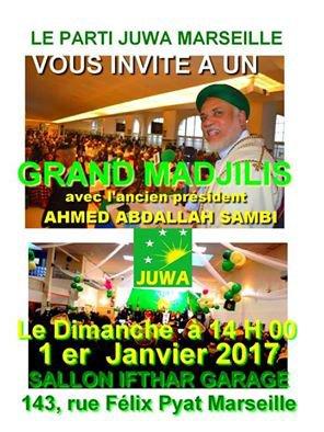 Ensemble autour du parti JUWA le 1er Janvier 2017