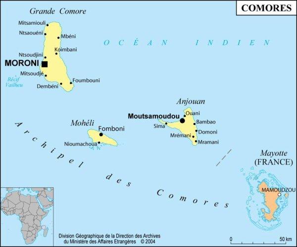 Le déficit commerçial des Comores serait à 74,5 milliards de nos francs