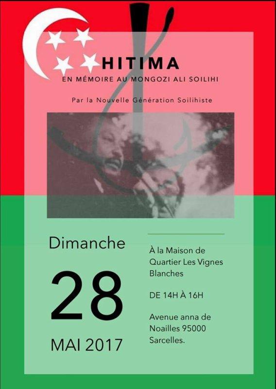 Commémoration de la memoire du Mongozi Ali SOILIHI