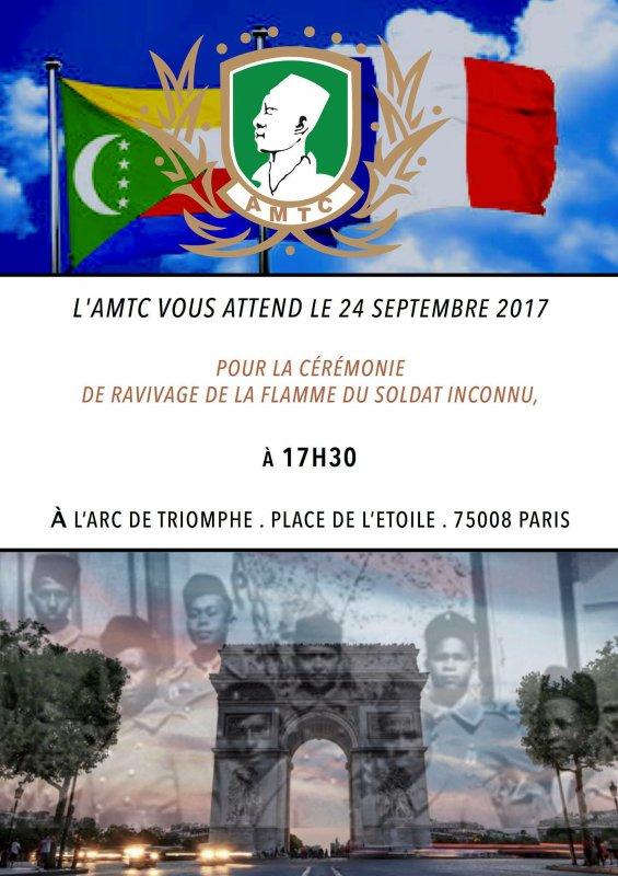 COMMUNIQUÉ DE PRESSE DE L'AMICALE SUR LA MÉMOIRE DES TIRAILLEURS COMORIENS