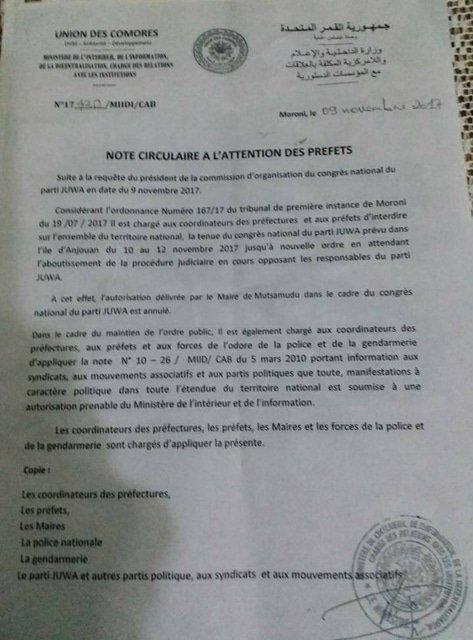 PARTI JUWA: AZALI S'ENFONCE CHAQUE JOUR DANS L'AUTORITARISME