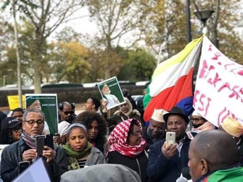 Manifestation de la diaspora comorienne: Ensemble contre la dictature
