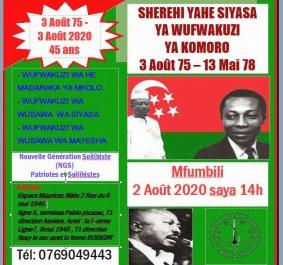 Le 45 ème anniversaire de la révolution soilihiste avec NGS