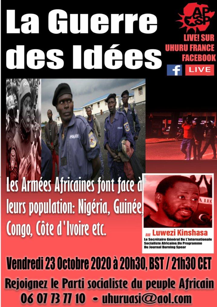 Le parti socialiste du peuple africain vous invite à un meeting ce soir