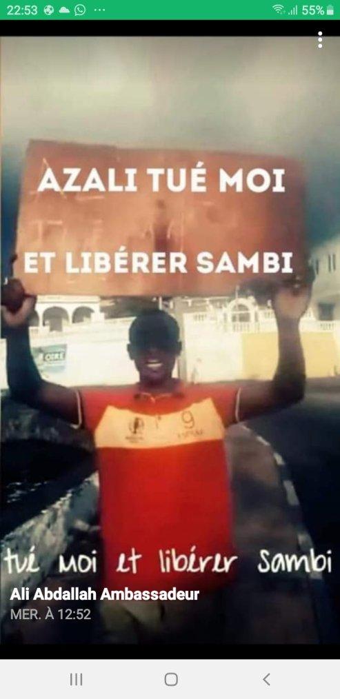 ,Manifestation: Azali tuer moi et libérer Sambi