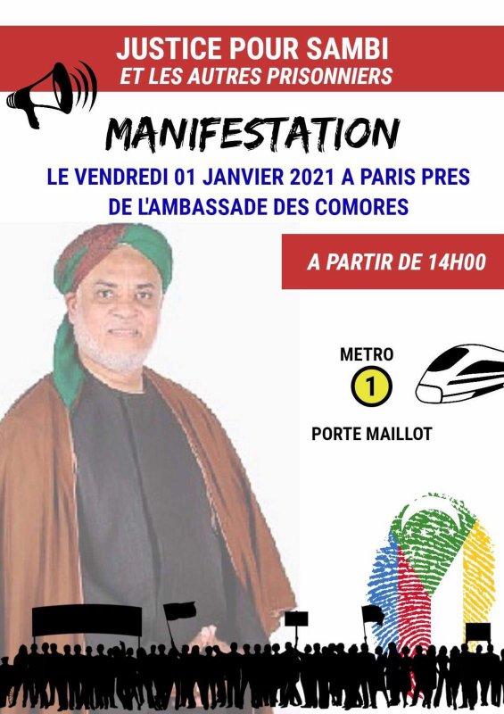 Appel à Manifestation le1er janvier 2020 pour la libération de SAMBI