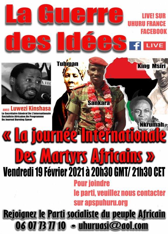 Ensemble commémorons la date 21 février, journée des martyrs africains