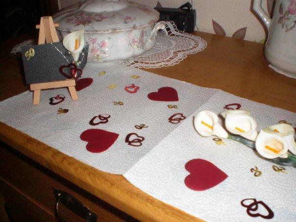 déco de table et urne pour les 50 ans de mariages des parents de mon cher et tendre