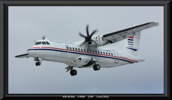 voila une petite derrier photo de l'avion air saint pierre