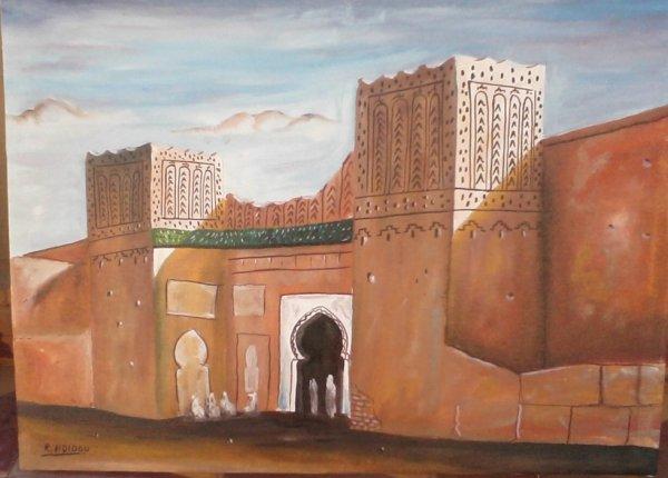 porte de abdel halim,errisani sud west du maroc ,oil sur toil