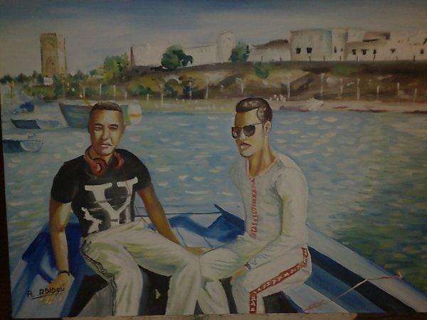 portrait de deux jeun hommes a la riviere sale