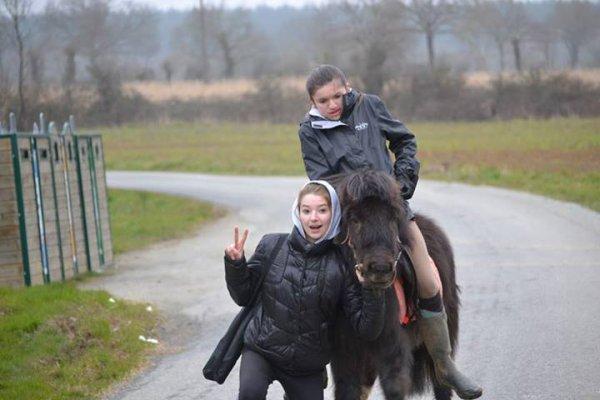 Deux cousines qui partage une même passion les chevaux