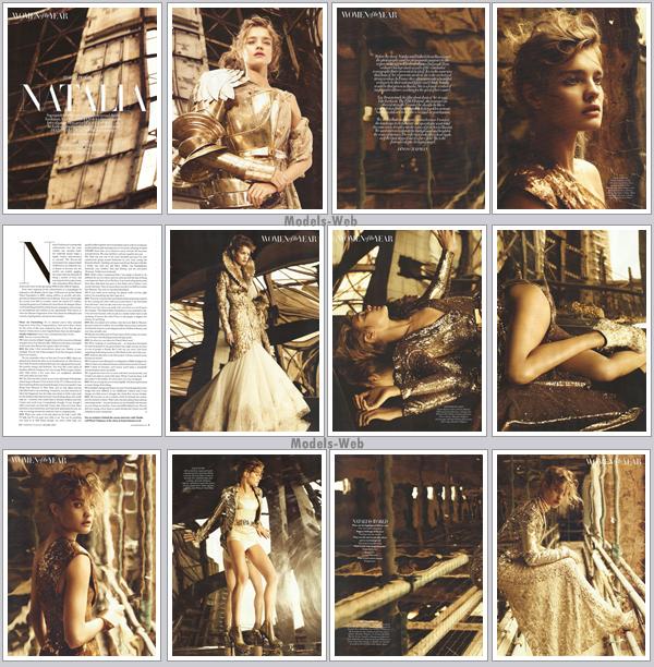 . Natalia Vodianova ■■ Harper's Bazaar Décembre 2010 | Super chouette couv' bien dans l'esprit de Noël!.