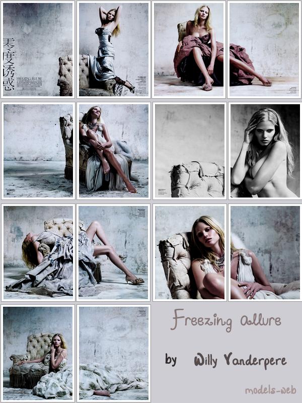 . Lara Stone ■■ Vogue Chine Décembre 2010 |  Mouais c'est pas la meilleure couv' du vogue chine cette année pour moi! .