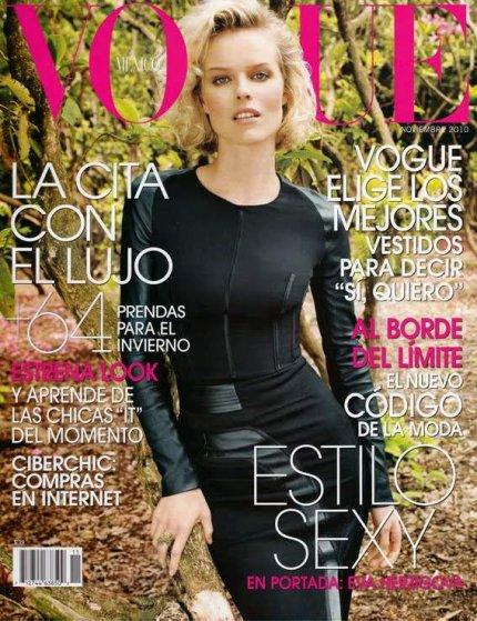. Eva Herzigova ■■ Vogue Mexico Novembre 2010 | Une couverture automnale à souhait!.